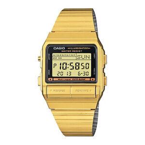 Casio Unisex Digital Data Bank Quartz Watch,Gold 12 Months warranty