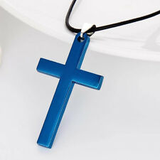 Men/women fashion Gold/SilverPlated Alloy Stainless Steel Cross Pendant Necklace