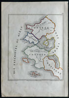 1850 - Card Fantasy - Antique Map - Jube of La Perelle - Rare