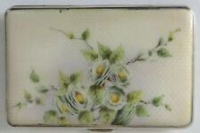 Antique Solid Silver And Enamel Card Case