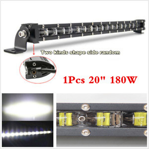 "1x 20"" 180W Slim LED Light Bar 6D Spot Beam Ultra Lightbar Offroad SUV 4x4 Truck"