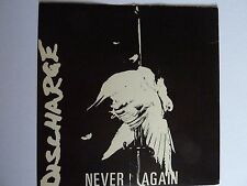 """DISCHARGE NEVER AGAIN 7"""" SINGLE IN EXCELLENT CONDITION"""