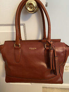 COACH Legacy Candace Leather Tote Shoulder Purse 19890 RICH BROWN with WALLET