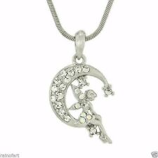 W Swarovski Crystal TINKER BELL Tinkerbell Moon Fairy Charm Color Pendant Gift