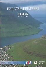 POSTVERK FOROYA FAROE ISLANDS STAMP YEAR PACK 1995 COMPLETE MNH STAMPS