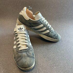 Adidas Gazelle Trainers Sneakers, Mens UK 10, Grey , 034581, Genuine