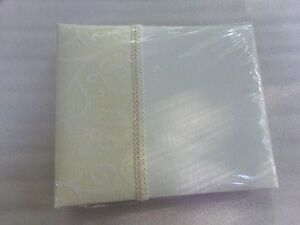 $28 New Classic Beautiful Wedding or Home Ivory White Fabric Hallmark Guest Book