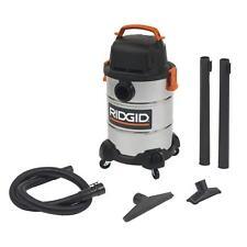 Steel Wet Dry Shop Vacuum Cleaner 6 Gallon Heavy Duty Vac w/ Wheels New Ridgid