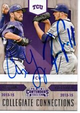 Alex Young Riley Ferrell TCU Horned Frogs 2015 Panini Contenders Signed Card