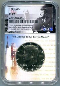 NGC-PF69 1964 Silver Kennedy Half Dollar Proof - Free Shipping