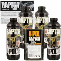 U-Pol 0820 Raptor Black Truck Bed Liner & Texture Coating, 4 Liters Upol