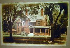 Old House Photograph Photo Unknown Origin Deep Porch Double Chimeny Out Building