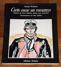 """Gianni Brunoro """"CORTO COME UN ROMANZO"""" Dedalo 1ªEd. (Hugo Pratt - Corto Maltese)"""