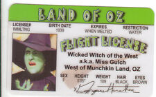Margaret Hamilton aka Wicked Witch of the West The Wizard of Oz Drivers License