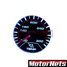 """Universal Chrome Electric 2"""" Oil Temperature Gauge Black Face Chevy Ford GM"""