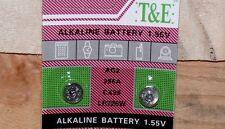 2x 1,55Volt Knopfzellen Uhren Uhr batterie AG2 396A LR726 LR59 Alkaline T&E