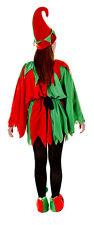 donna uomo adulto aiutante di Babbo Natale Elfo costume Outfit 5 pezzi L