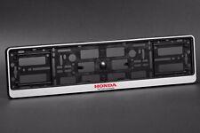 2 x Honda Euro License Number Plate Frame Holder