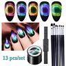 13 Pcs/lot LEMOOC 5ml 9D Magnetisch Gellack Soak Off Magnet Stick Nagel Bürste