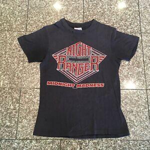 Vintage NIGHT RANGER MIDNIGHT MADNESS TOUR 1984 Black Concert T-shirt SMALL