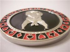 Protect Your Nuts Funny Heavy Poker Card Guard Hand Protector Metal Coin NEW