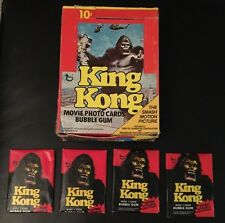 King Kong Original Movie 1976 Unopened (4) Wax packs of Cards + Free SH