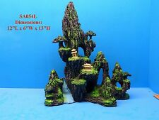 MOUNTAIN VIEW CAVE BRIDGE TREE SA054L AQUARIUM DECOR RESIN FISH TANK ORNAMENT