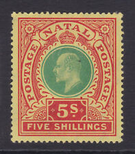 Natal. SG 169, 5/- green & red/yellow. Mounted mint.