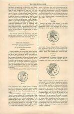 Médaille Bérénice Prusias Ier Mitridate Cabinet des Médailles GRAVURE PRINT 1870