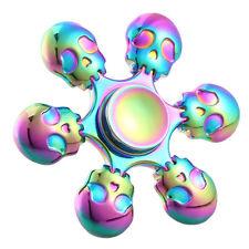 6 heads Skull Hand Spinner Fidget Finger Spin Hand Desk Toy EDC ADHD Autism Gift