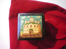 Collectible Russian Lacquer Trinket Box Signed