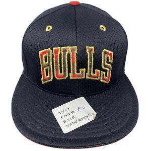 Adidas Men's CHICAGO BULLS  Fitted Hat Cap Size 7 3/8 Plaid Under Visor