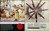 Seagram V. O. Canadian Whiskey / Wills Castella Cigars Odd Man Out Advert 1965