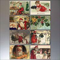 Christmas fridge magnets 8 Traditional Victorian Vintage Christmas Scenes No.2