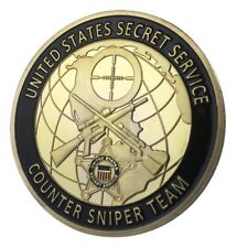 U.S. United States Secret Service USSS | Counter Sniper Team | Gold Plated Coin