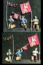 Plastoy Safari Ltd Medieval knight castle army warriors Herald Flag Bearer 3 lot