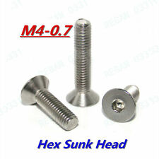 M4-0.7 Allen Hex Socket Sunk Head Flat Head Screws Bolts 304 Stainless A2-70