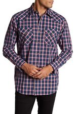New Pendleton Frontier Plaid Men Regular Fit Long Sleeve Western Snap Shirt NWT