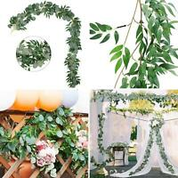 Artificial Hanging Plant Fake Vine Ivy Leaf Greenery Garland Party Wedding Decor
