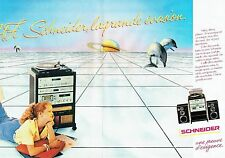 PUBLICITE ADVERTISING 0217  1981  Schneider (2p) chaine  hi-fi