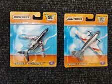 2 MATCHBOX SKYBUSTERS ON SEALED CARDS / CESSNA / FLIGHT FORCE/ CARD WEAR 2011