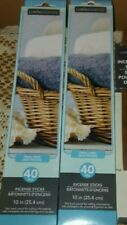 "2 Pks-Luminessence Fresh Linen 10"" Incense 40 in ea, 80 Total Incense Sticks,Bn"