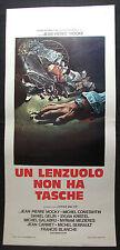 LOCANDINA CINEMA - UN LENZUOLO NON HA TASCHE - M. CONTANTINE - 1973 - DRAMMATICO