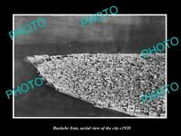 OLD LARGE HISTORIC PHOTO BUSHEHR IRAN AERIAL VIEW OF THE CITY c1920