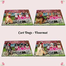 I Love Dog Cat in Cart Floormat,Valentin Pet lovers gift doormat home decor