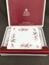 ROYAL ALBERT LAVENDER ROSE LARGE Boxed Set Of 6 Place And  2 Table Mates