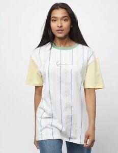 Karl Kani T-Shirt-Small Signature Pinstripe Größe S Neu