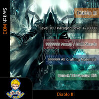 Diablo III (Switch Mod)- Max Money/Shards/Crafting Materials/Paragon Level
