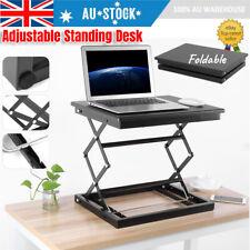 Folding Lifting Standing Desk Riser Sit Stand Up Computer Laptop Office Desktop