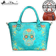 WOMENS TURQUOISE SKULL HANDBAG & MATCHING WALLET CONCEALED  NWT! MONTANA WEST